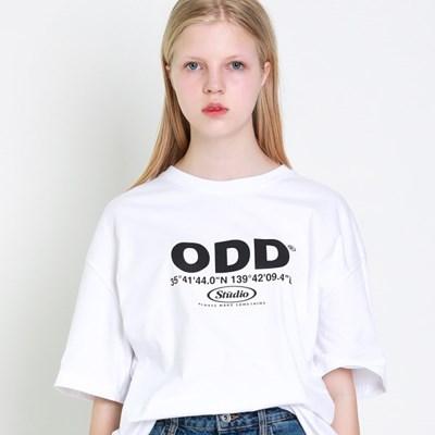 오드스튜디오 코디네이트 티셔츠 - WHITE