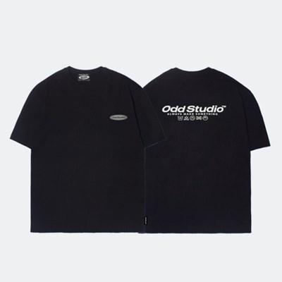 오드스튜디오 오디디 스카치 티셔츠 - BLACK