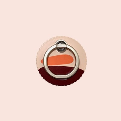 Red sunrise smart ring