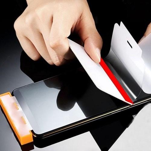 [초간단부착 갤럭시 액정 보호 필름 1+1] 스마트폰 핸드폰 강화