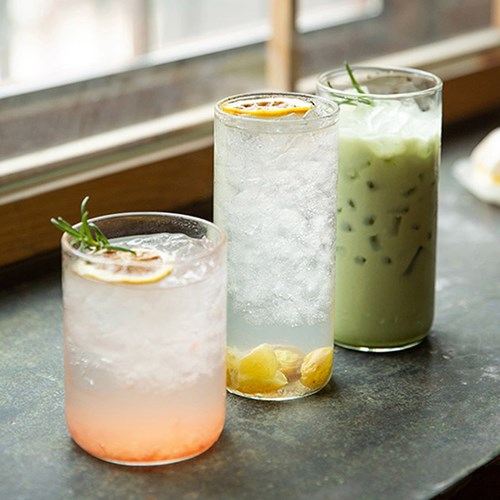 베이직내열유리컵(디자인선택) / 카페유리잔 유리찻잔 커피잔
