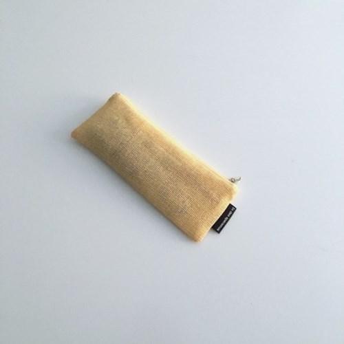 옐로우 에코 메쉬 필통(Yellow eco mesh pencil case)