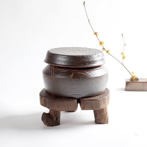 수공예 각 옹기 1.5kg 소금항아리 단지 현관소금
