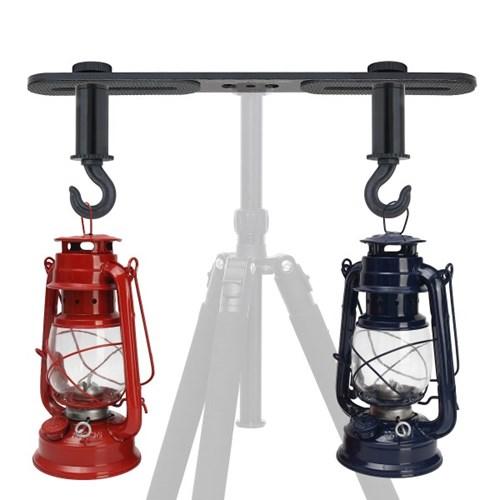 본젠 KP-033 듀얼 브라켓+KM-3401E 더블 후크 SET (삼각대 램프 등)