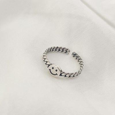 스마일 프리사이즈 925 은 반지