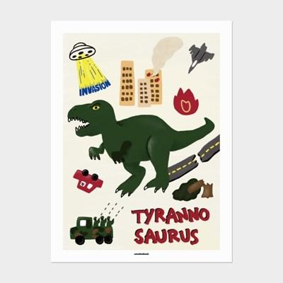 [카멜앤오아시스] Invasion Ⅰ 티라노 공룡 포스터