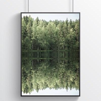 숲속의 호수 힐링포스터