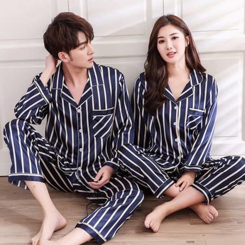 갓샵 실크 커플 수면 잠옷 상의+하의 SET 신혼부부 파자마