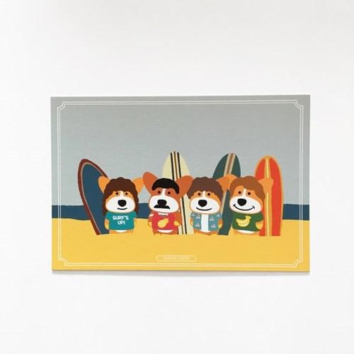 Surfing Queen Postcard