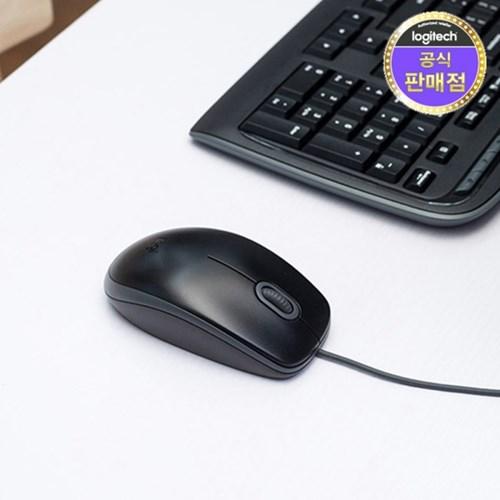 로지텍코리아 M110 무소음 유선 마우스