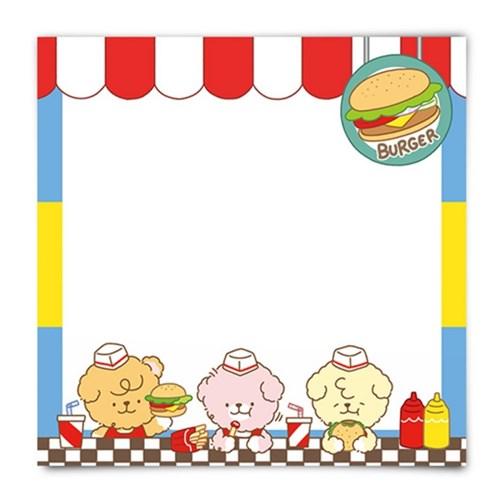 [또자] 햄버거 댕댕 메모지