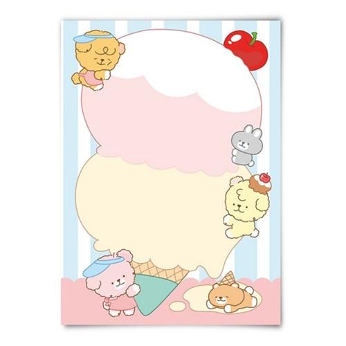 [또자] 아이스크림 댕댕 메모지