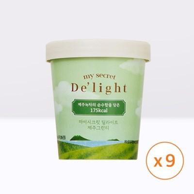마이시크릿 딜라이트 아이스크림 제주그린티 9통_(1335838)
