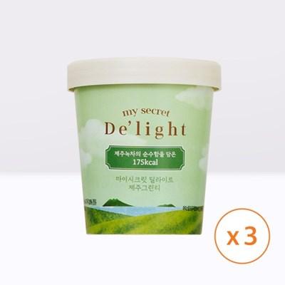 마이시크릿 딜라이트 아이스크림 제주그린티 3통_(1335836)
