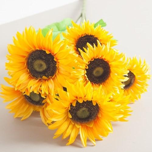 9대해바라기부쉬 60cm FAIAFT 조화 꽃 인테리어소품_(1340718)