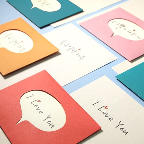 말풍선 편지지(편지지4장+봉투랜덤2장)