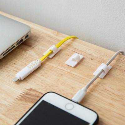 심플 케이블 선 정리 클립 4+4 8p세트 전선 홀더 사무실 멀티탭