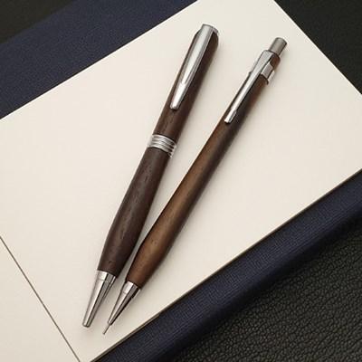 나모 로즈 원목 펜 세트, 이니셜 각인 무료, 볼펜+샤프펜슬