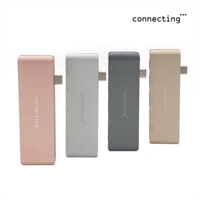 커넥팅 USB-C타입 멀티허브 5 in 1 맥북 노트북 허브