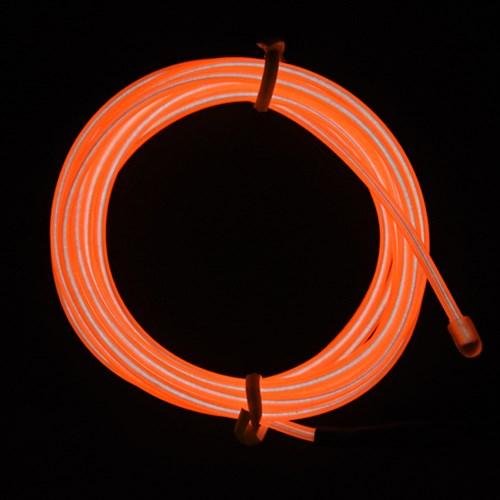 EL 와이어줄(2M)+인버터 [오렌지]