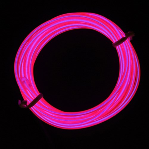 EL 와이어줄(2M)+인버터 [핑크]