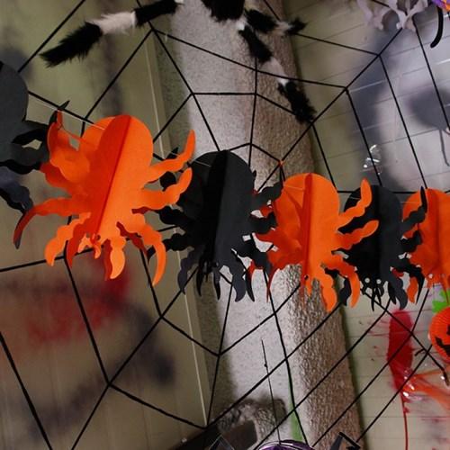 할로윈 페이퍼 가랜드 [거미]_(11785027)
