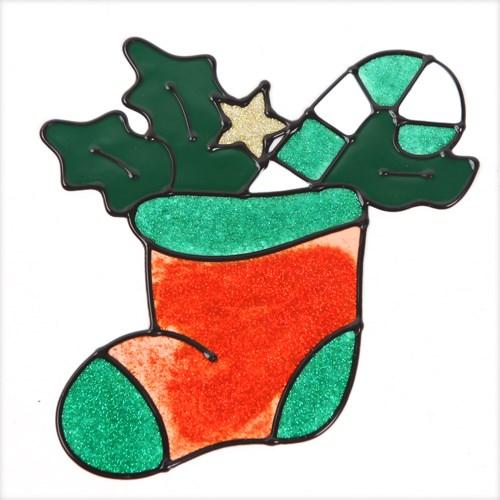 양말 글라스스티커 중 20cm 트리 크리스마스 TRMBLS_(1389948)