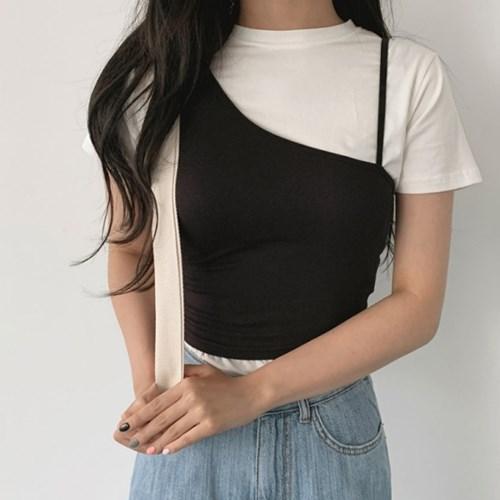 언발크롭 sleeveless (4color)