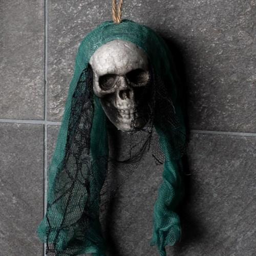 레이스망사 잘린 해골머리 장식 [그린]_(11786408)