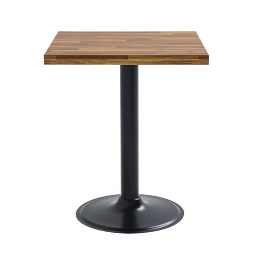 2인용 무늬목600 사각 고무패킹 원반다리 티테이블
