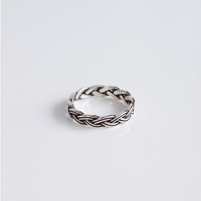 실버 유화 꼬임 반지 [92.5 silver]