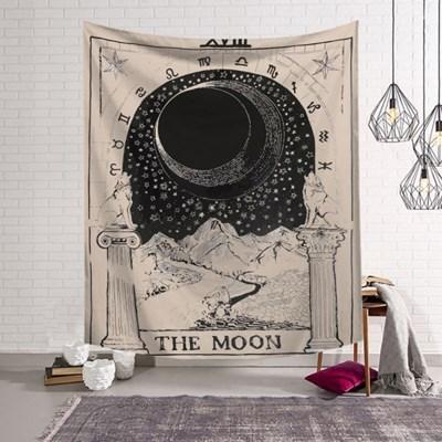 태피스트리 벽장식 패브릭 포스터 - 타로 더 문 (130x150cm)
