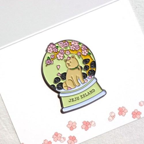 벚꽃 멍멍이 마그넷