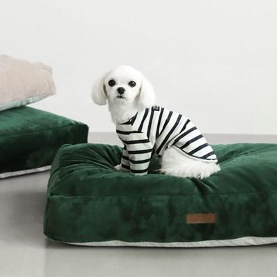 클라우드다운 밍크극세사 강아지 마약방석(커버+솜)