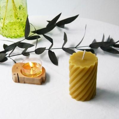 [Honey Bees Candle] 스크류 밀랍초