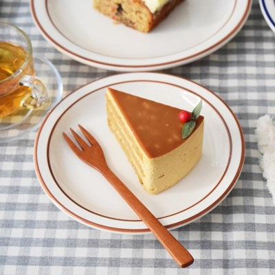 시라쿠스 브라운 / 블루 라인 플레이트 2 color 카페 접시 그릇