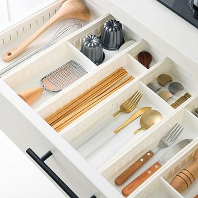 싱크대서랍정리케이스(컬러선택) / 수저 소품 싱크대 주방 용품 정리