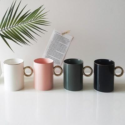 골드링 카페 머그컵(400ml) 골드라인컵 집들이선물