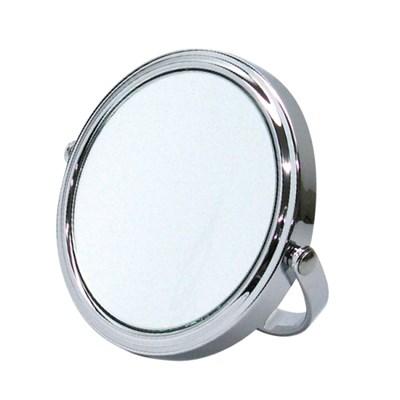 헤닝스 샤이니실버 라운드 3배 확대거울 미니탁상거울