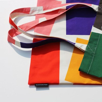 Geometric Square Bag (패브릭 가방)