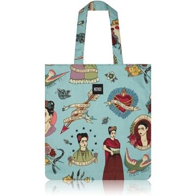 nother Frida Classic Tattoo Flat Tote Bag (FridaKahlo/Turquoise)