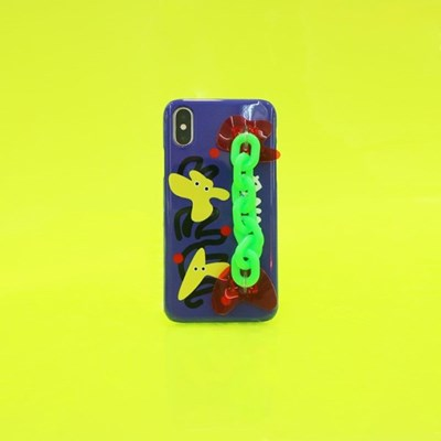 SUN CASE NEON CHAIN BLUE