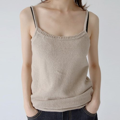 regular fit knit sleeveless top (2colors)_(1328319)