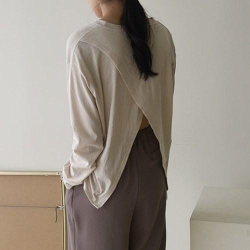 뒤태 반전 백트임 뒷트임 랩 여름 긴팔 티셔츠