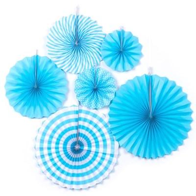 페이퍼팬 데코세트 6입 [블루]_(11807657)
