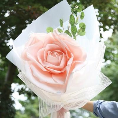 자이언트 핑크로즈 한송이 꽃다발-꽃다발선물,장미선물,_(100817526)