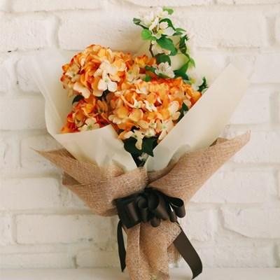 그립고 보고싶은 오렌지 수국 부케-성묘꽃다발,성묘꽃,_(100817511)