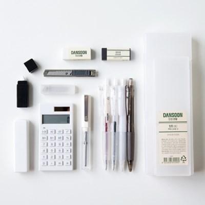 단순생활 디자인문구 필기구 반투명 필통 세트