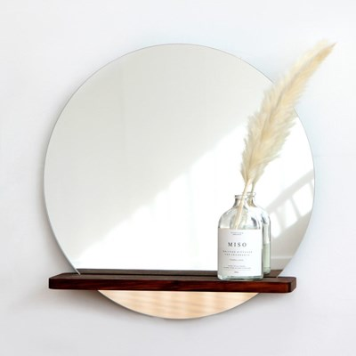 멀바우 큰 선반 거울