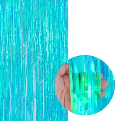 파티은박커튼 [폭1m/높이2m] 홀로그램 블루_(11809186)